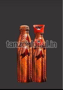 Copper Printed Water Bottle