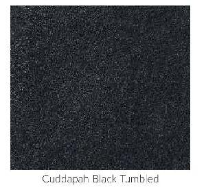 Cuddapah Black Tumbled Limestone Tile
