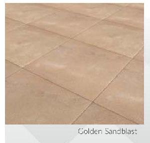 Golden Sandblast Contemporary Sandstone and Limestone Paving Stone
