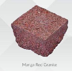 Manga Red Granite Cobbles