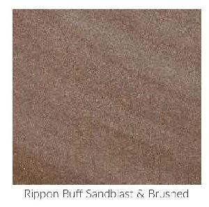 Rippon Buff Sandblast & Brushed Contemporary Sandstone and Limestone Paving Stone