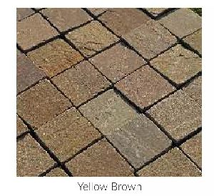 Yellow Brown Stone Cobbles