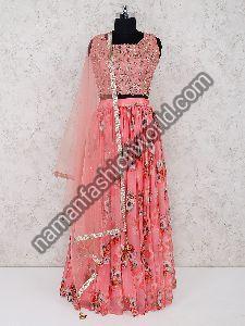 Chiffon Lehenga Dress Material