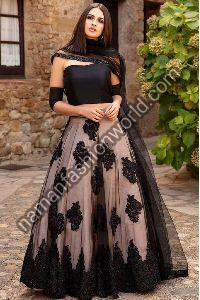Net Lehenga Dress Material