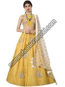 Silk Lehenga Dress Material