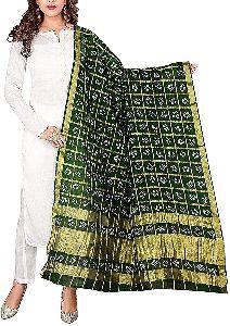 Jaipuri Bandhani Checked Dupatta