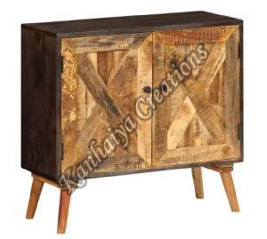 33.5x11.8x29.5 Inch Solid Mango Wood Storage Cabinet