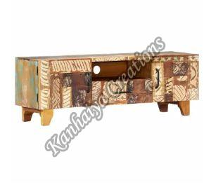 47.2x11.8x15.7 Inch Solid Reclaimed Wood T.V Stand