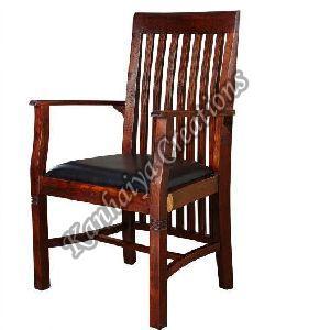 50cmx45cmx108cm Solid Acacia Wood and PVC Chair