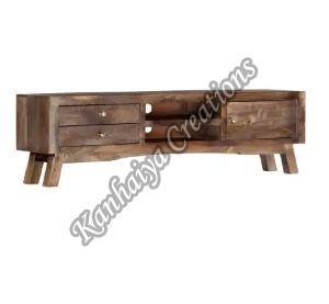 55.1x11.8x15.7 Inch Solid Mango Wood T.V Stand