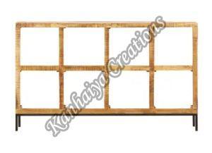 63x9.8x37.4 Inch Solid Mango Wood Storage Cabinet