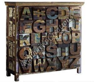 90x40x100 cm Solid Waste Wood Sideboard