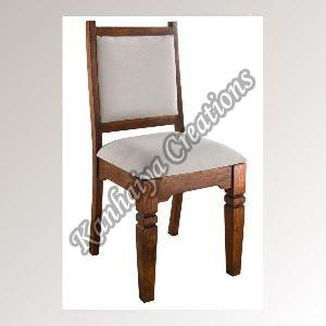 Acacia Wood and Cotton Chair
