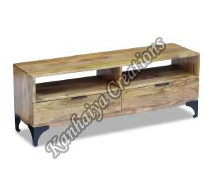 Mango Wood and Strong Steel Legs T.V Stand