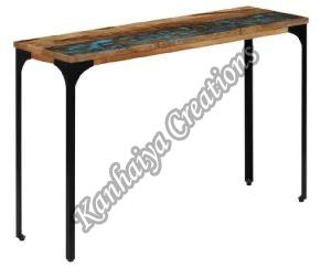 Reclaimed Wood and Powder Coated Steel Frame Center Table