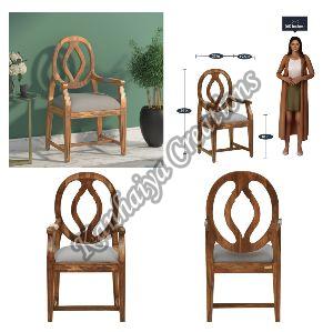 Sheesham Wood and Rustic Teak Polish Chair