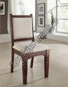 Solid Acacia Wood and Cotton Chair