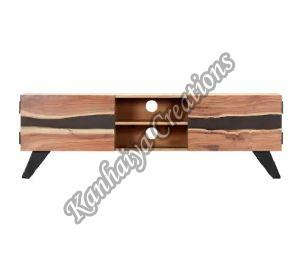 Solid Acacia Wood T.V Stand