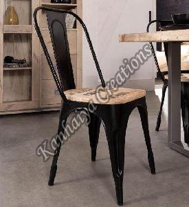 Solid Mango Wood and Iron Chair