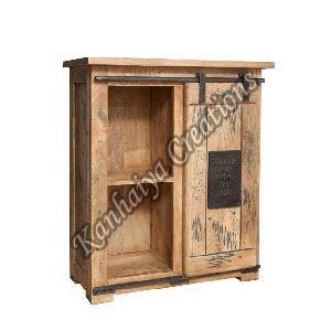 75x36x90 cm Solid Mango Wood and Iron Sideboard