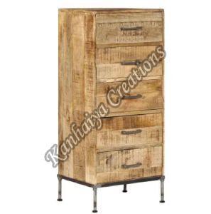 17.7x13.8x41.7 Inch Solid Mango Wood Storage Cabinet