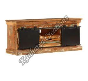43.3x11.8x17.7 Inch Solid Reclaimed Wood T.V Stand