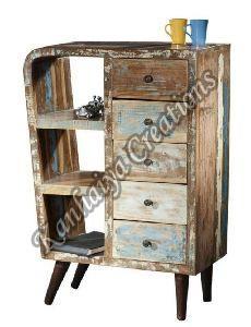 Waste Wood and Metal Sideboard