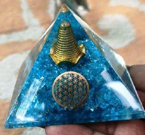 Orgonite Blue Pyramid