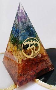 Orgonite Nubian Chakra Pyramids with Om Logo