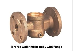 Bronze Flange Water Meter Body