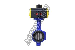 Pneumatic Actuator Operated Wafer type Butterfly Valve