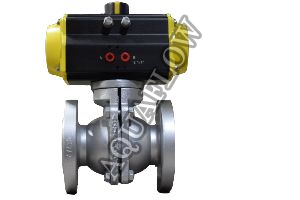 Pneumatic Actuator Operated 2 piece Design PFA / FEP Lined  Ball Valve