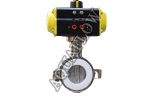 Pneumatic Actuator PTFE lined Butterfly Valve
