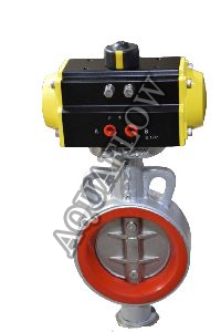 Pneumatic Actuator Operated Replaceable Sleeve Butterfly Valve