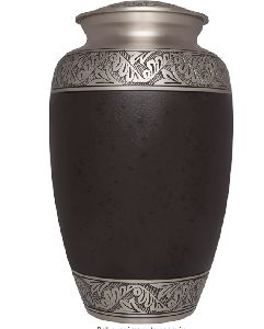 Brown Funeral Urn by M.S Handicrafts  - Cremation Urn for Human Ashes - Hand Made in Brass - Suitab