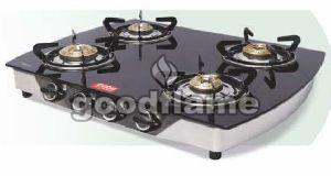 CURVE (SS) 4 Burner Gas Stove