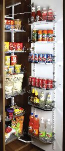 6 Layer Wood & Wire Pantry Unit