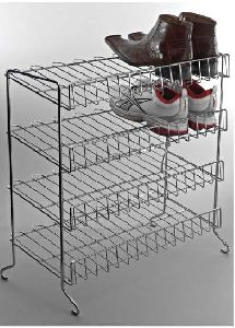 Stainless Steel 4 Layer Shoe Rack
