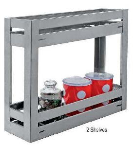 Stainless Steel Elegant Series 2 Shelves