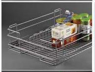 Stainless Steel Storage Solutions Series Partition Basket