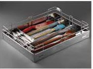 Stainless Steel Storage Solutions Series Perforated Cutlery Basket