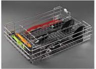 Stainless Steel Storage Solutions Series Wire Cutlery Basket