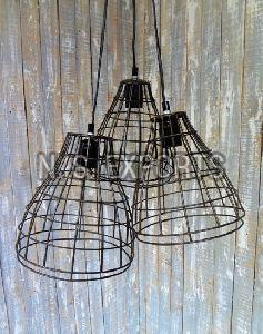 3 Wire Cage Hanging Lamp