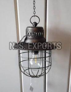 Antique Black Wire Cage Hanging Pendant Lamp