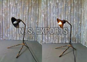 Black Washed Cage Floor Lamp