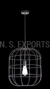 Black Wire Cage Hanging Pendant Lamp