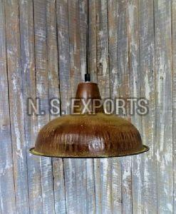 Brown Patina Finish Small Hanging Lamp