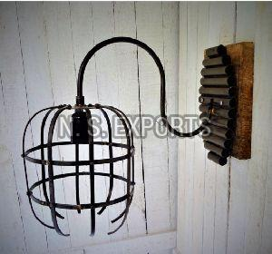 Capsule Wire Cage Wall Lamp