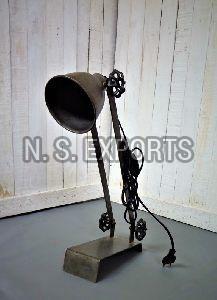 Clear Metal Finish Desk Lamp