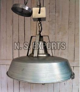 Conical Cage Hanging Lamp
